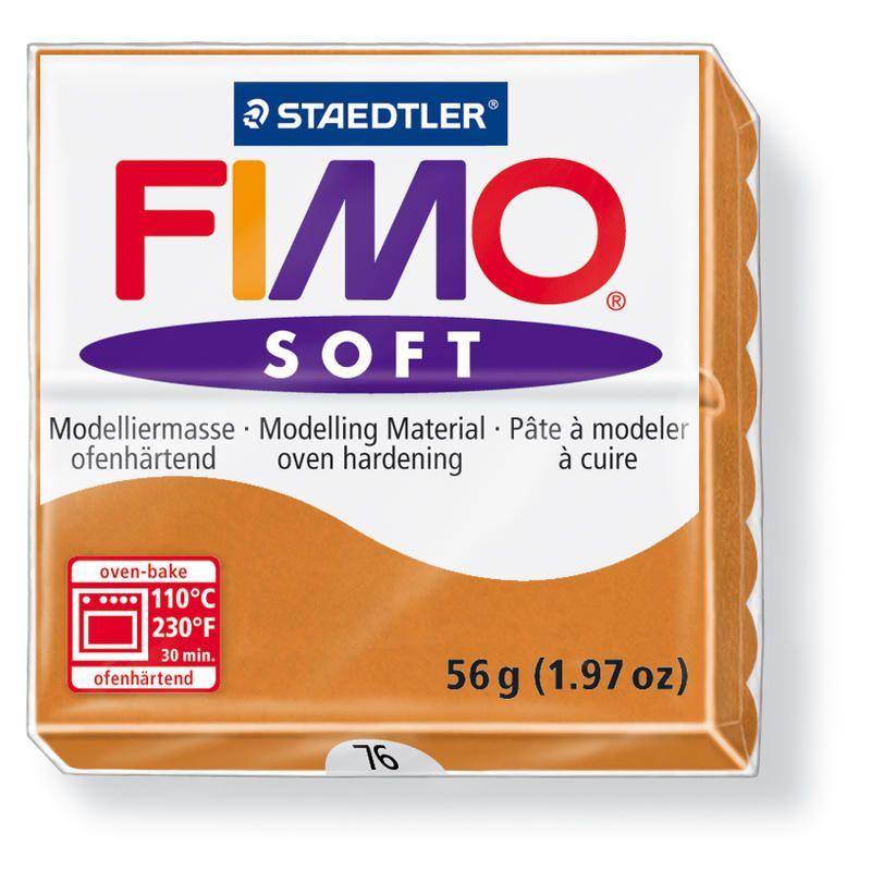 Hmota FIMO SOFT, 56 g, koňaková