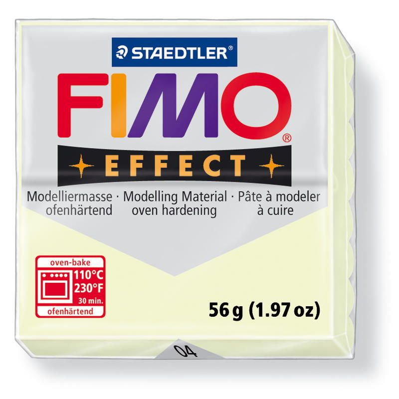 Hmota FIMO EFFECT, 56 g, noční záře - svítící ve tmě