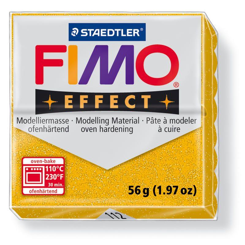 Hmota FIMO EFFECT, 56 g, zlatá - glitter