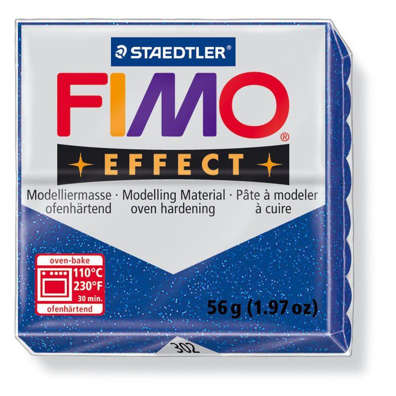 Hmota FIMO EFFECT, 56 g, modrá - glitter