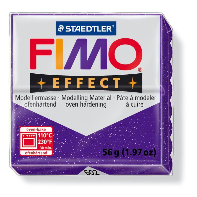 Hmota FIMO EFFECT, 56 g, fialová - glitter