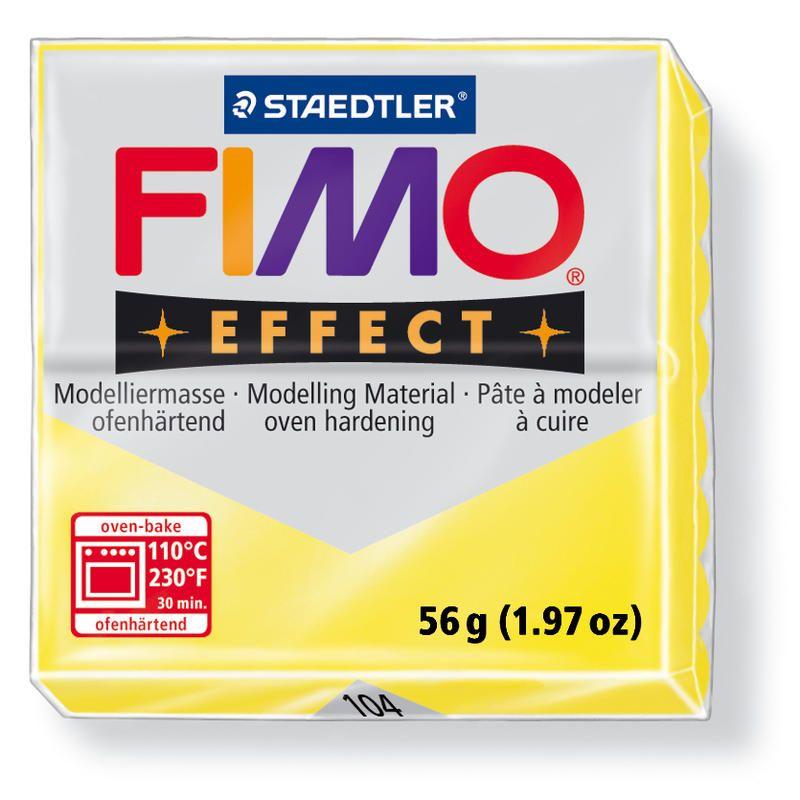 Hmota FIMO EFFECT, 56 g, žlutá - průsvitná