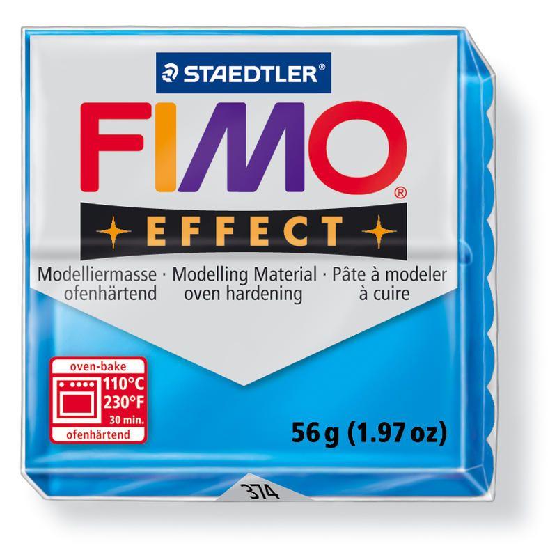Hmota FIMO EFFECT, 56 g, sv. modrá - průsvitná