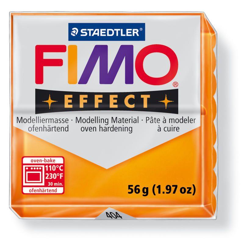 Hmota FIMO EFFECT, 56 g, oranžová - průsvitná