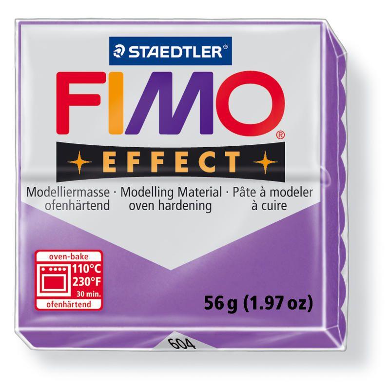 Hmota FIMO EFFECT, 56 g, fialová - průsvitná