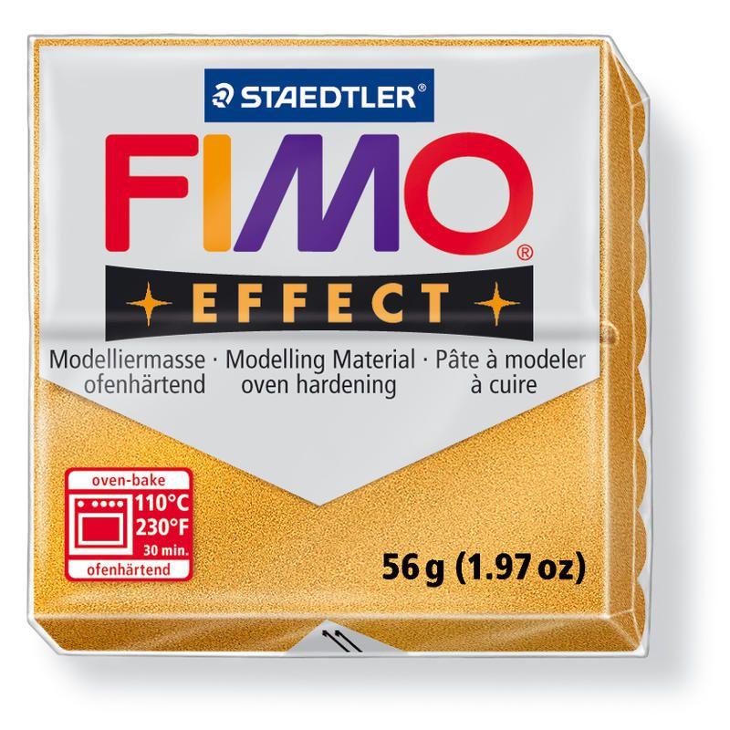 Hmota FIMO EFFECT, 56 g, zlatá - metalická