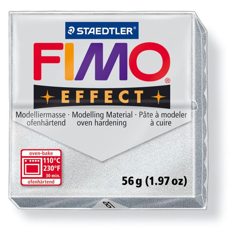 Hmota FIMO EFFECT, 56 g, tm. stříbrná - metalická