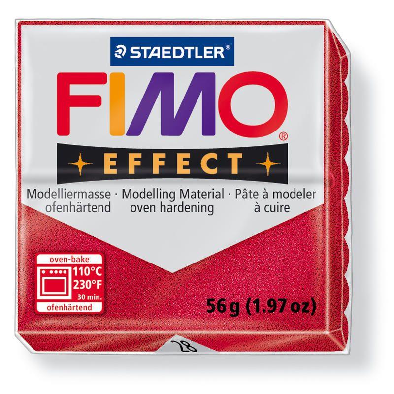 Hmota FIMO EFFECT, 56 g, rubínově červená - metalická