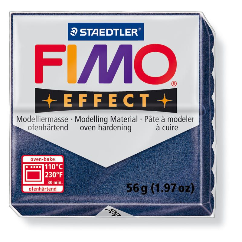 Hmota FIMO EFFECT, 56 g, safírově modrá - metalická