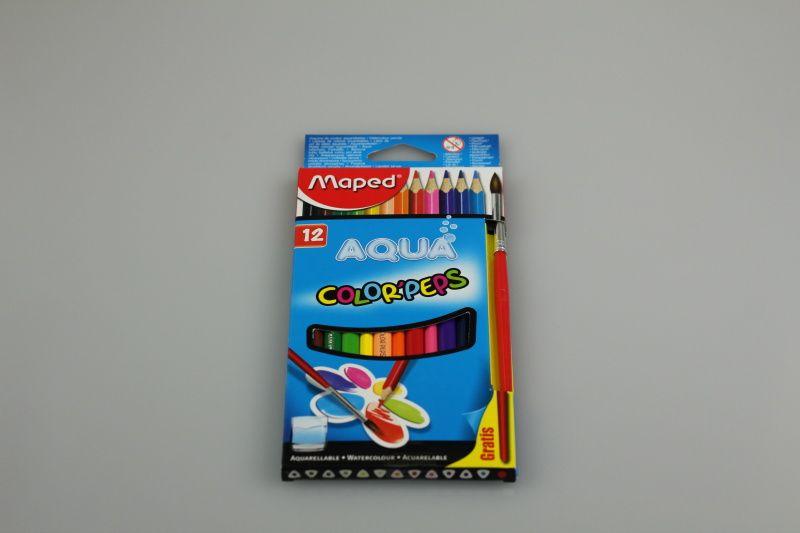 Pastelky Maped Color´Peps Aqua, 12 barev + štětec