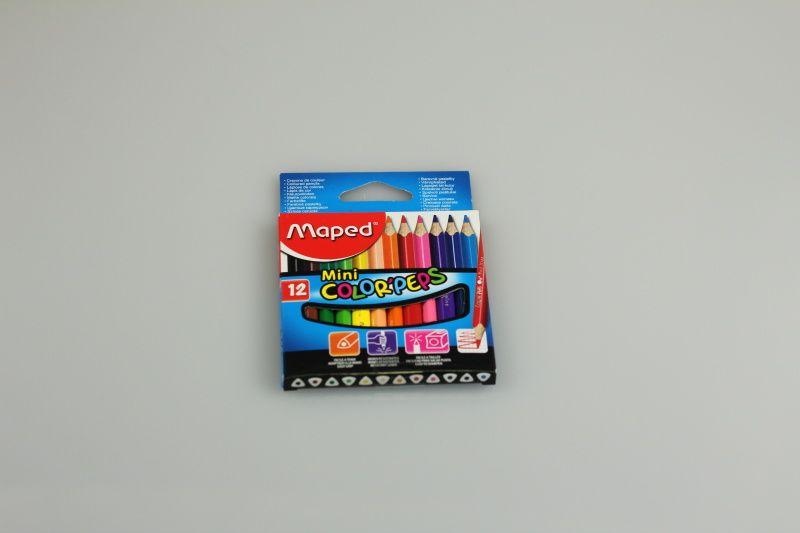 Pastelky Maped Color´Peps Mini, 12 barev