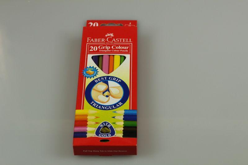 Pastelky Faber-Castell Junior Triangular, 20 barev