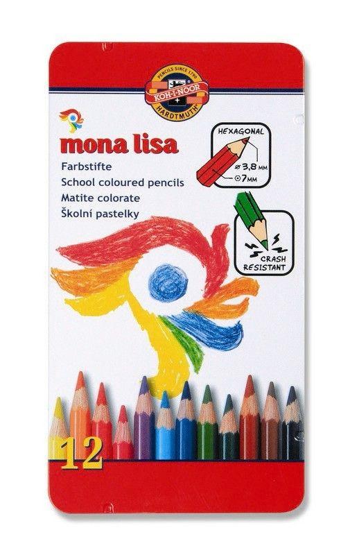 Pastelky 3812 MONA LISA 12 ks školní