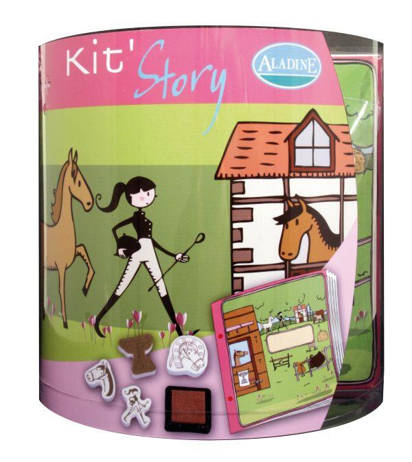 StampoStory, výtvarný kufřík, koně