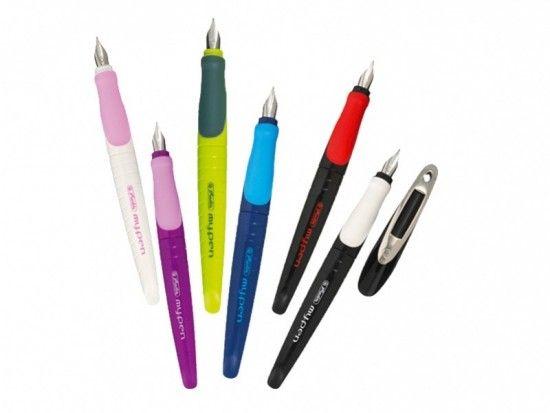 Plnící bombičkové pero My Pen pro leváky černé - červené
