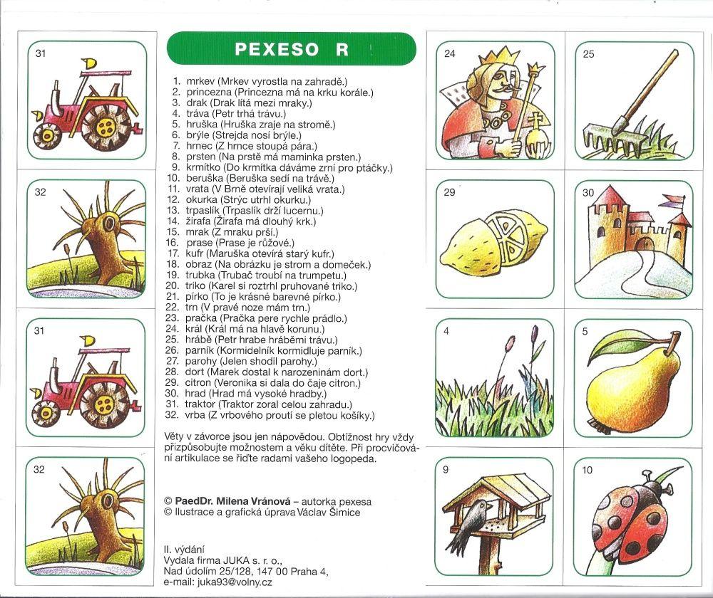 Logopedické pexeso R