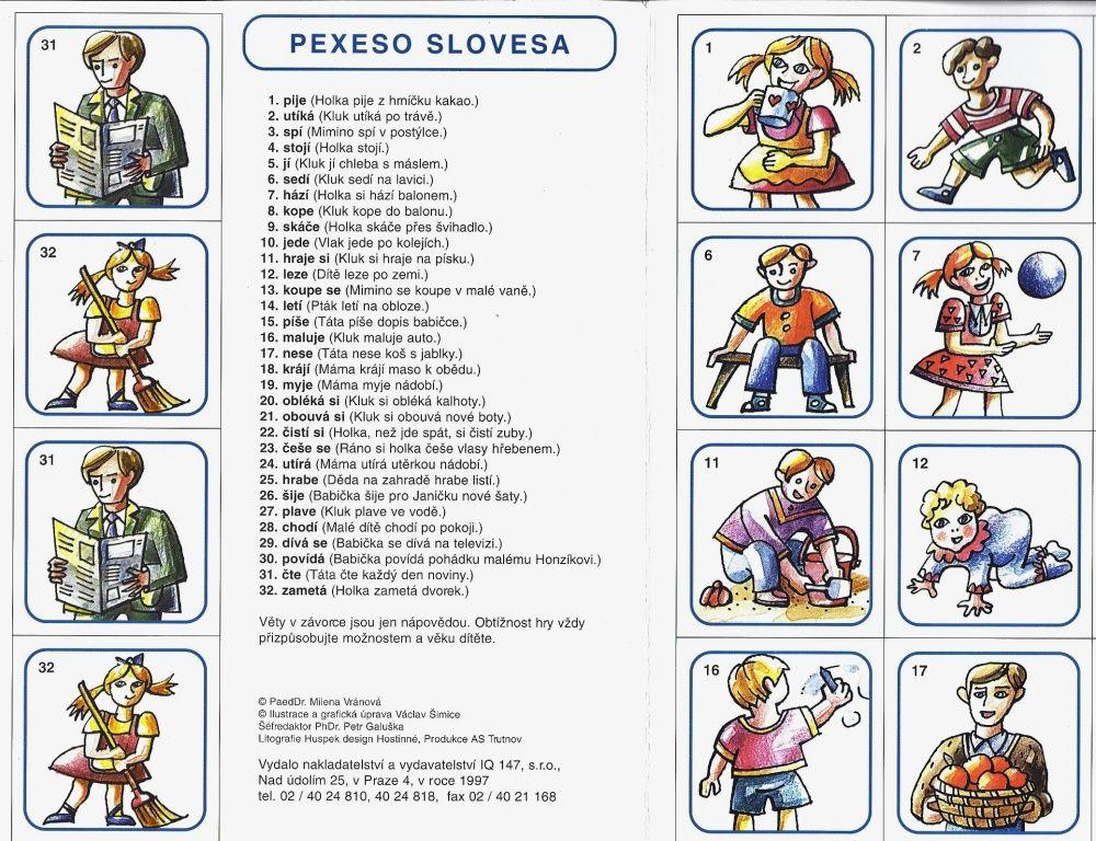 Logopedické pexeso Slovesa